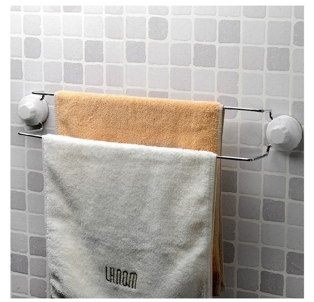 Magic Er Stainless Steel Double Towel Rack Bathroom Accessories Holder Bar Ikea Storage Free