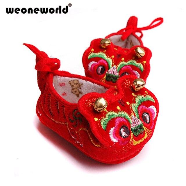 11194792bcdfc WEONEWORLD chinois traditionnel broderie bébé enfant en bas âge chaussures  infantile fond doux bébé tissu chaussures