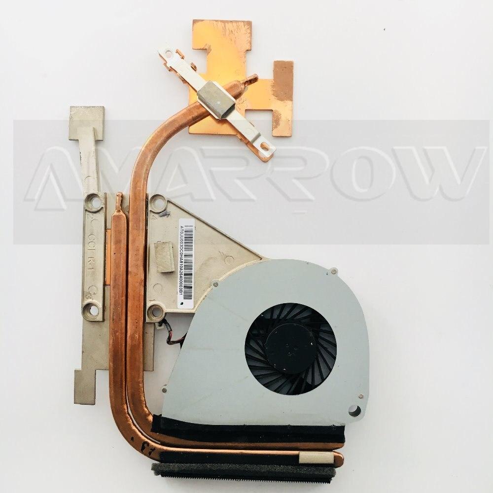 Original para portátil ACER disipador de calor del ventilador de refrigeración refrigerador de la cpu V3-551 V3-551G V3-571G 5750 5750G disipador CPU ventilador + latón radiador