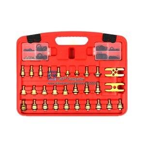 Image 4 - Universal Asien Auto Leck Detektor Stecker Adapter Set A/C Reparatur Werkzeug für A/C Klimaanlage Kältemittel system