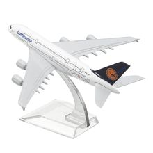 16cm Metal Plane Model Aircraft A380 Lufthans Aeroplane Scale Desk Toy(China)