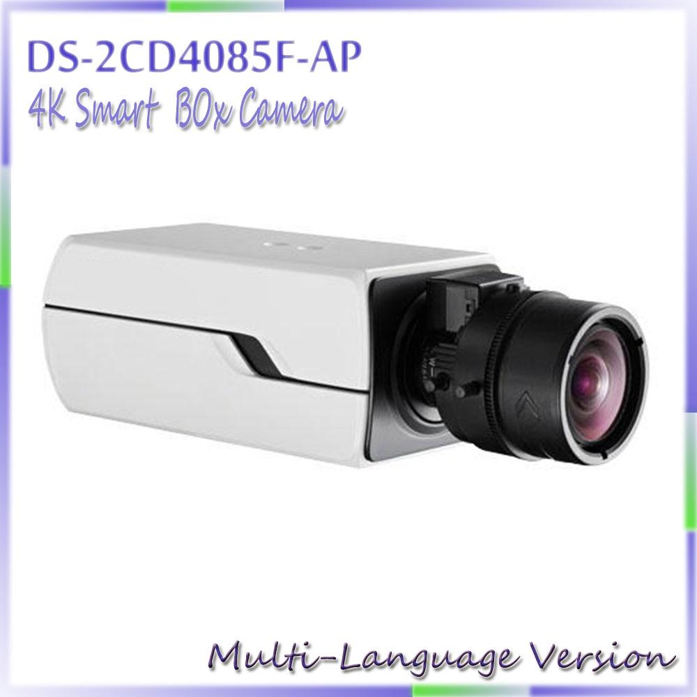 Free shipping multi language version DS 2CD4085F AP 4K Smart Box ip cctv Camera suppory P