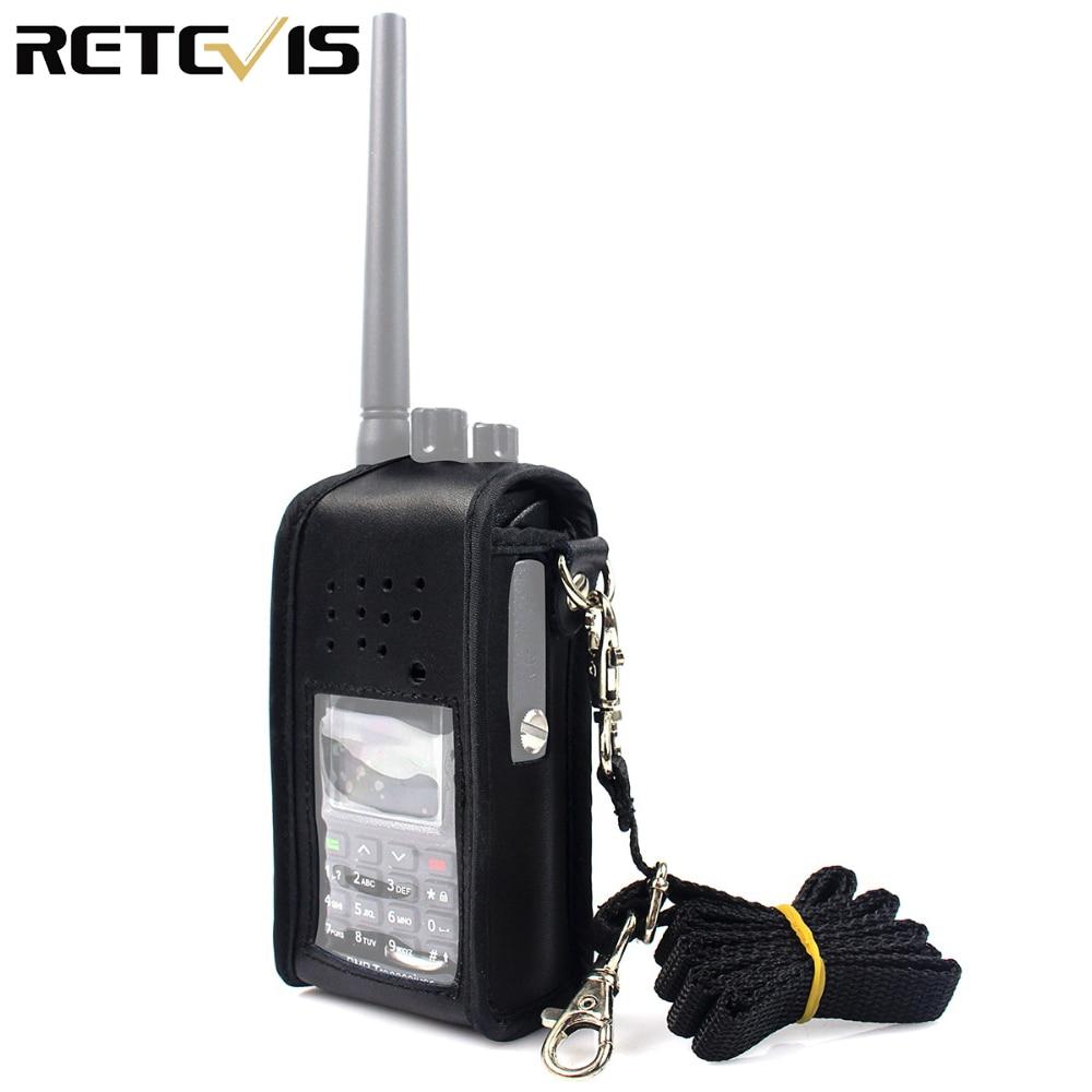 Black Multi-function Leather Carrying Radio Holster For Retevis RT8 RT81 DMR Radio Walkie Talkie J9115H