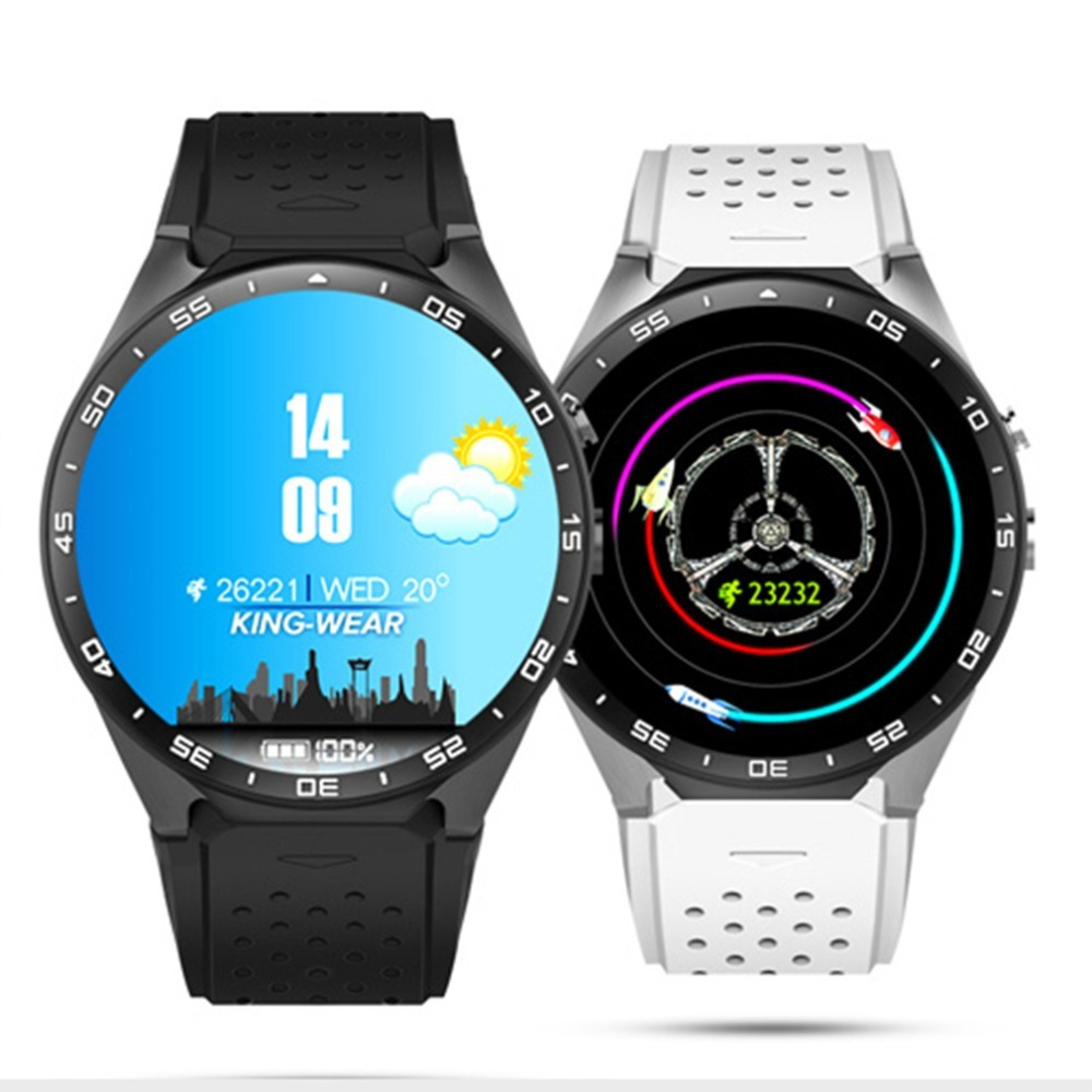 Kingwear Smart Watch Android 5.1 MTK6580 Smart Watch Heart Rate 2.0MP camera 3G WIFI GPS SIM smart wrist watch Phone Free Ship kinco mtk 6580 512mb 8gb bluetooth camera gps smart watch phone heart rate sim pedometer sos smart watches for ios android
