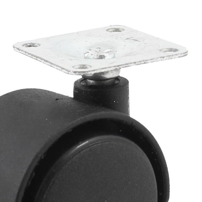 33mm Metal Mounted Plate 38mm Plastic Dual Wheel Rotatable Caster SODIAL33mm Metal Mounted Plate 38mm Plastic Dual Wheel Rotatable Caster SODIAL