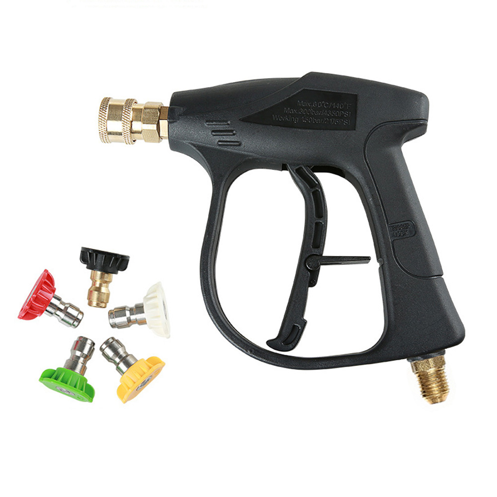 M14 X 1.5 Mm Car Washer Gun High Pressure Water Gun With 5 Nozzles For Car Pressure Power Washers Water Gun Cleaning Tools