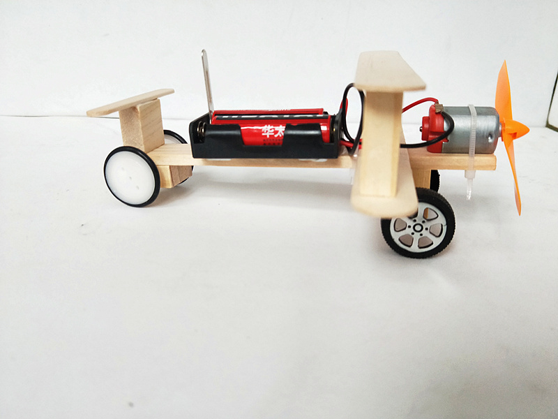 Happyxuan-DIY-Wind-Power-Glide-Plane-Model-Kit-Wood-Kids-Physical-Science-Experiments-Toy-Set-Preschool-Educational-3