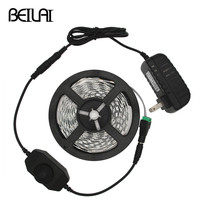 BEILAI 5630 Dimmable LED Strip 5M 300LED Not Waterproof DC 12V Fita LED Light Strips Flexible