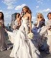 2017 Sexy бусы Кружева свадебные Платья Милая Длина Пола оборками Свадебное Платье 2016 Выполненных на заказ свадебные Платья Vestido де noiva