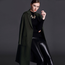 2017 high quality high end double sided cashmere coat, women