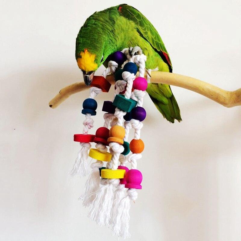 Mode Innovante Oiseau Perroquet Jouet À Mâcher Corde Harnais Cage Morsure Jouets D'oiseaux de Compagnie Ara Conure Perruche Swing Scratcher