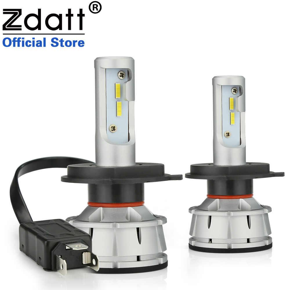 Zdatt все в одном H4 светодиодный H7 светодиодный Canbus H11 9005 9006 свет фар автомобиля лампы 100W 12000LM H8 H1 HB3 HB4 светодиодный 6000K 12V для автомобильных фар