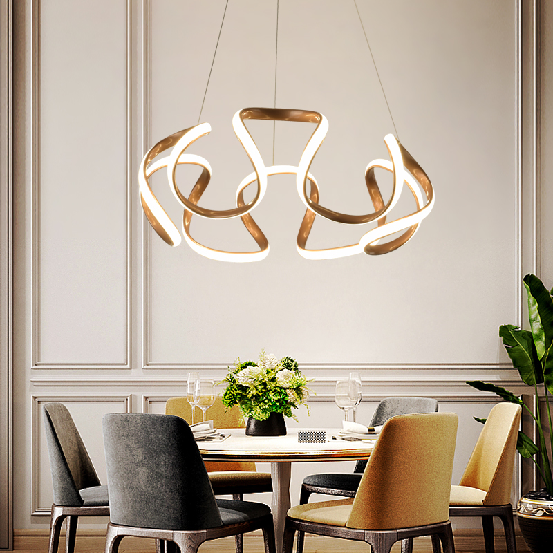 Modern Led Pendant Lamps for Living Room Restaurant Bedroom Decorative Pendant Light Lamparas AC85-260V remote control