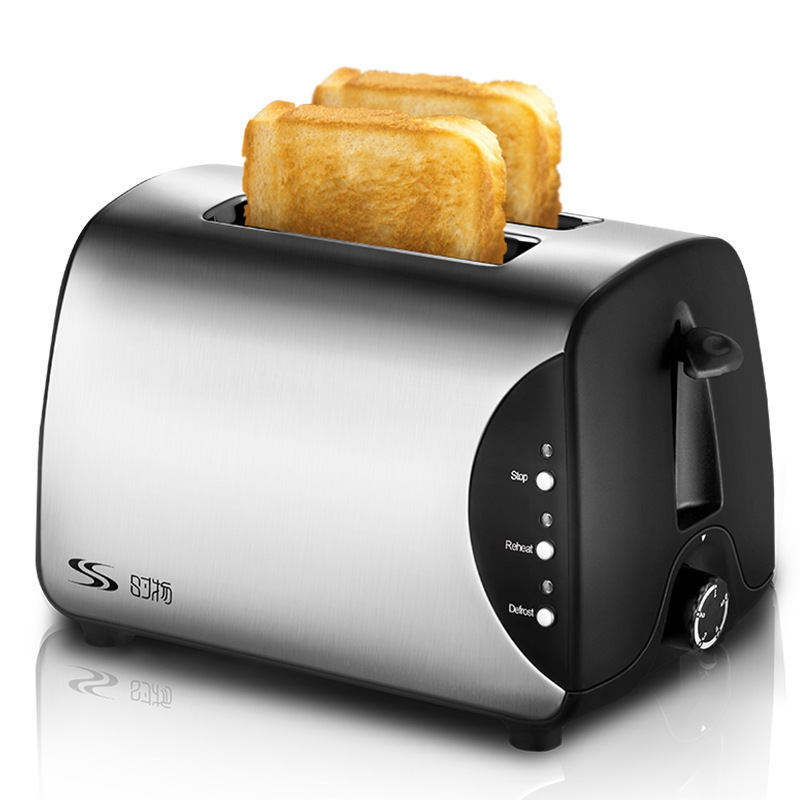 Toaster 2 Pieces of Household Automatic Stainless Steel ToasterToaster 2 Pieces of Household Automatic Stainless Steel Toaster