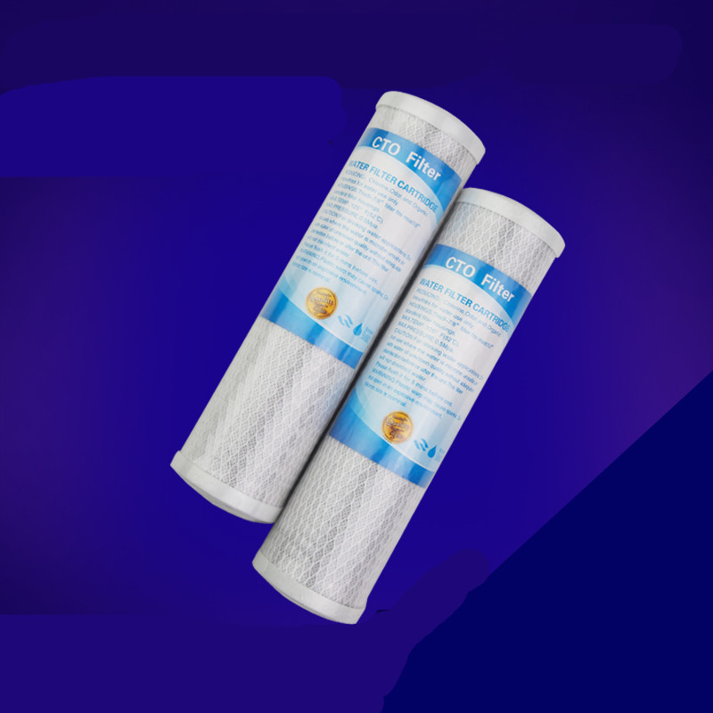 2 PCS water filter cartridge coconut carbon filter 10 inch  CTO  water purification machine accessories  filter cotton 5 inch coconut shell cto carbon block water filter for whole house