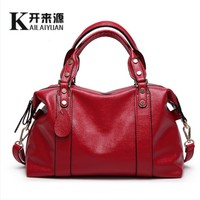 KLY 100% Genuine leather Women handbag 2018 New The trend of all match Fashion Handbag Shoulder Messenger Handbag