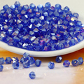 Free shipping wholesale 5301 Grade AAA Sapphire AB color  3mm  4mm 5mm 6mm 8mm Crystal Bicone Beads