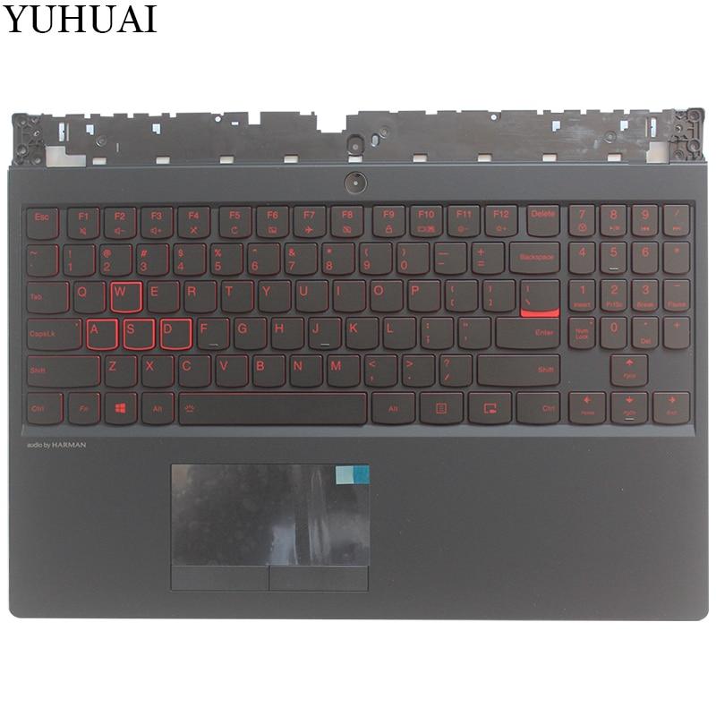 New US laptop keyboard For Lenovo Legion Y530 Y7000 US Upper case Palmrest keyboard bezel