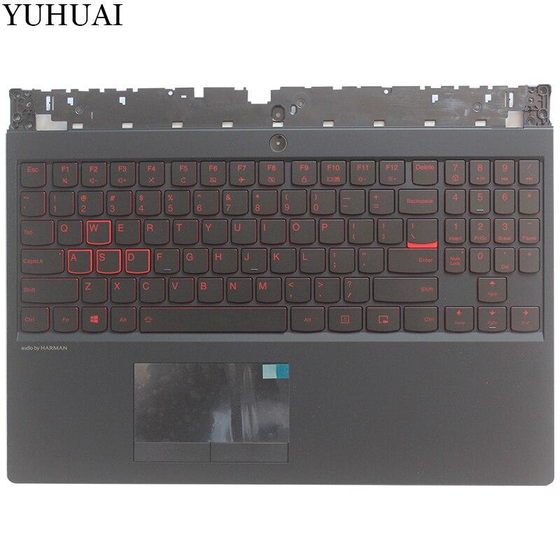 New US laptop keyboard For Lenovo Legion Y530 Y7000 US Upper case Palmrest keyboard bezelNew US laptop keyboard For Lenovo Legion Y530 Y7000 US Upper case Palmrest keyboard bezel