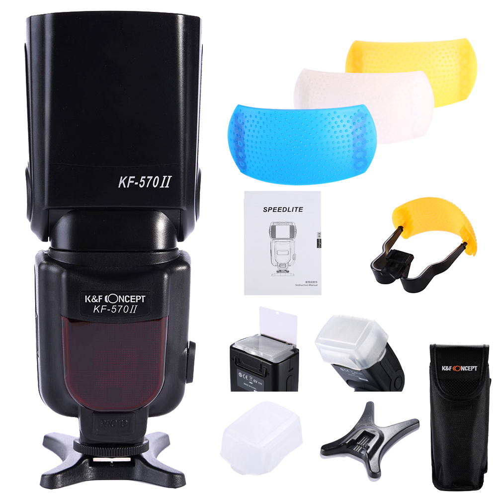 ФОТО K&F Concept  KF-570 II High Speed Flash Light Speedlite For Nikon D70 D90 D5100 D5000 D3100