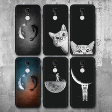 For Xiaomi Redmi 5 Plus Case TPU Soft Silicone Cover 5.99 Cat Matte Ultra Thin Phone Bag Cases Shell
