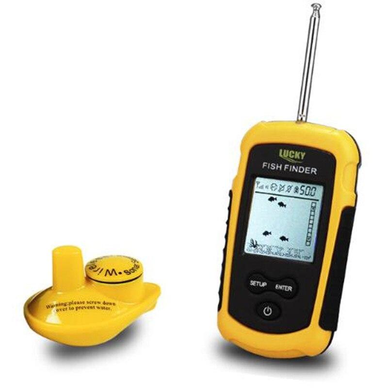 FFW1108-1 chanceux Portable 100 m sans fil détecteur de poisson alarme 40 M/130FT Sonar profondeur océan rivière écho sondeur pour la pêche - 3