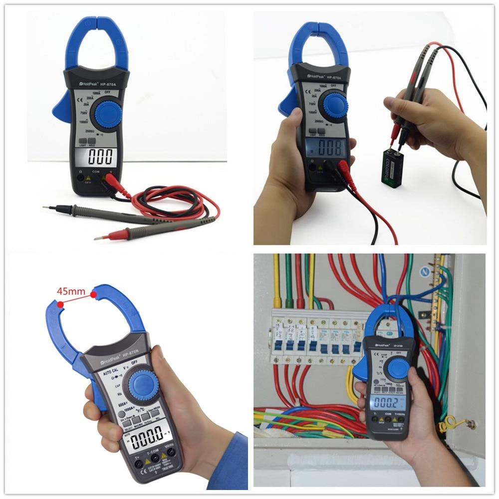HoldPeak HP-870N Auto Range DC AC Pinza digital multímetro Pinza - Instrumentos de medición - foto 6