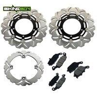 BIKINGBOY For Suzuki DL 650 V storm 07 08 09 10 11 12 13 14 15 DL650 Front Rear Brake Discs Disks Rotors Pads Motorcycle Set