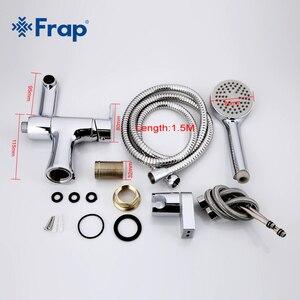 Image 5 - Frap 1 takım klasik tarzı banyo havzası musluk duş başlığı soğuk ve sıcak su mikser küvet musluk 75 derece anahtarı f1252