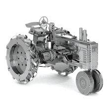 Miniature 3D Farm Tractor Metal Model Puzzle 3D Model Building Kits Puzzle 3D Solid Jigsaw Puzzle