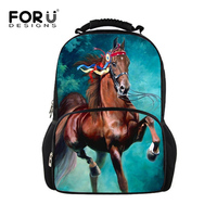 Famous 3D Horse Print Boys Casual Backpack Cute Monkey Felt Mochila Escolar For Girl Teenagers Students Travel Unisex Mochilas