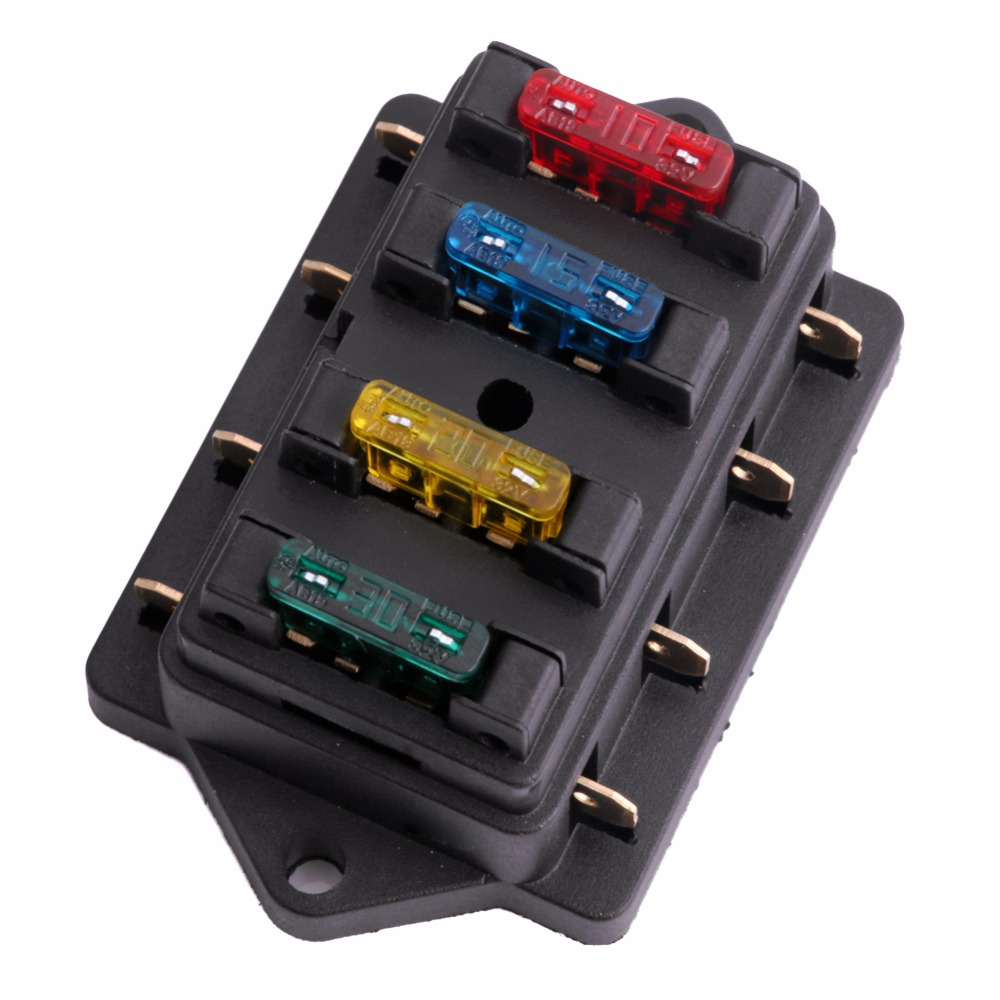 2009 Electra Glide Fuse Box Wiring Library Harley Dyna 12v 24v 4 Way Car Truck Auto Blade Holder Circuit Standard Ato 4x