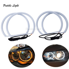 цена на Dual Color Car Angel Eyes Cotton lights Halo Ring LED for BMW E46 Non-Projector White+Yellow Headlight with Turn lights