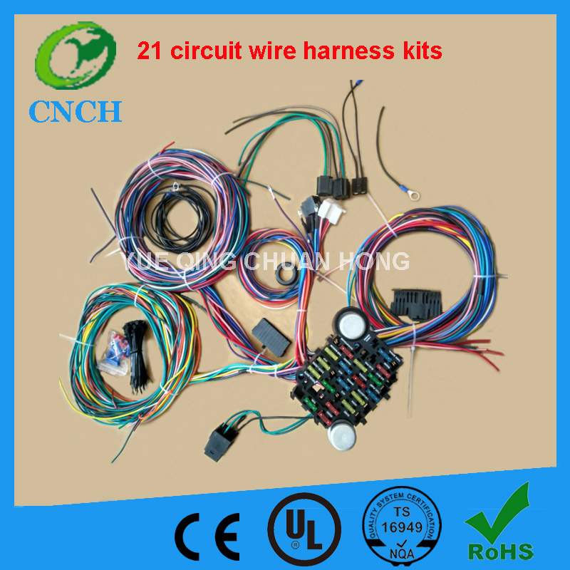 12 CIRCUIT UNIVERSAL WIRE HARNESS MUSCLE CAR HOT ROD STREET ROD NEW