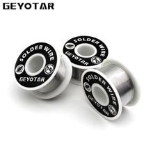 GEYOTAR 1PCS Set 1mm New Soldering Iron Wire Reel 50g 3 5oz