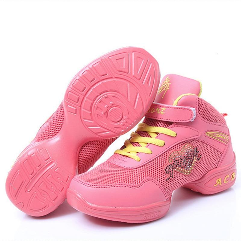 Zapatillas de deporte para baile nuevo 2017 llegar zapatos de baile de Jazz  Hip Hop zapatos de plataforma de zapatos de baile de los niños zapatillas de  ... ff3367f09f8
