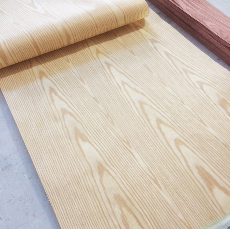 2Pieces L:2.5Meters/pcs   Wide:60cm Thickness:0.2mm  Technology Ash Wood Veneer Furniture Edge Banding Strip
