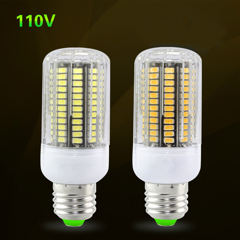 цены  110V 127V E27 SMD5733 3W/4W/5W/7W/8W/10W LED Corn Bulb Lamp SpotLight Lampada Replace CFL Incandescent Lights 25W to 100W