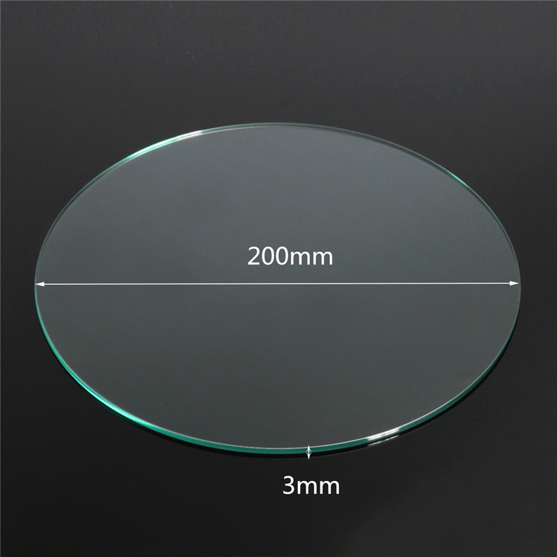 3D Printer kit Borosilicate Glass Build Plate 200x3mm For Heated Bed Prusa / Mendel 3d printer Parts Accessories