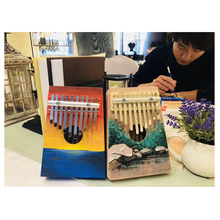 SLADE 10 Key Kalimba DIY Kit Basswood Thumb Piano Mbira for Handwork Painting Parents-child Campaign