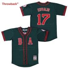 ea0a1c4b58 Salto Jersey hombre Jersey de Boston Jersey Eovaldi Jerseys de béisbol de  color rojo blanco gris verde azul envío gratis camisa .