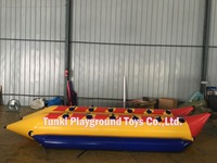cheap plastic kayak Inflatable Water Games Flyfish Banana Boat6 persons