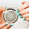 1 Pc Born Pretty Full Flower Design Nail Art Stamp Stamping Template Image Plate Nails Art Decoration Nail Template DIY Tool