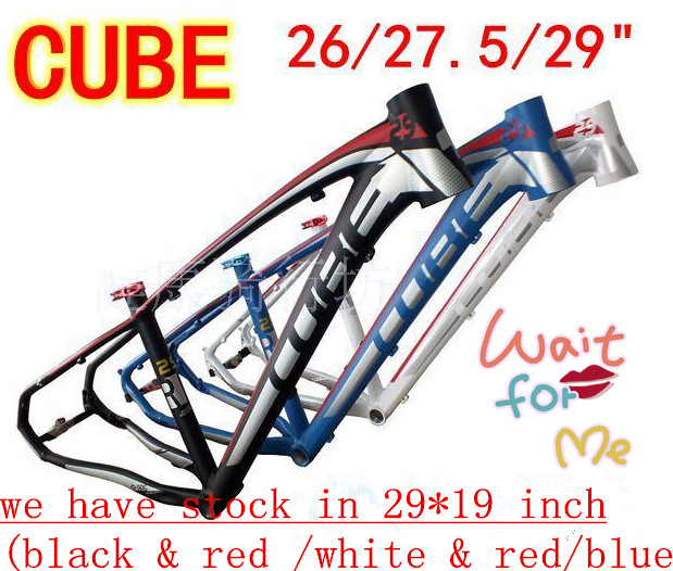 Cube frame 29 mountain bike Frame mtb Aluminium Alloy Al6061 17/19 Bicycle Parts FRAME hot bike frame mtb authentic mosso 2608 aluminium alloy mountain bike 26 16 17 18 inch frame