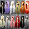 Women Full Long Straight Hair With Neat Tilted Bang Synthetic Cosplay Wig Robin/Shana/Katsura Kotarou/Mercury Lamp/Axis Powers