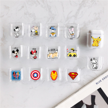 Case For Airpods Case Cute Skin For Airpods Cover Cartoon Protector Wireless Earphone For Airpod Transparent Hard PC Coque Bag