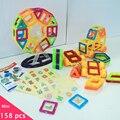 158 unids/lote construcción magnética modelos Building Blocks juguetes de DIY 3D Mini diseñador magnético de aprendizaje educativos juguetes ladrillos niños