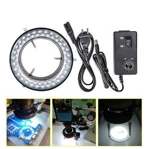 Image 5 - Foxanon LED Ring Licht Illuminator Lampe AC 110V 220V Einstellbare Stereo Mikroskop Licht 4,5 W 60 LEDs Keine flackern Kreis Licht