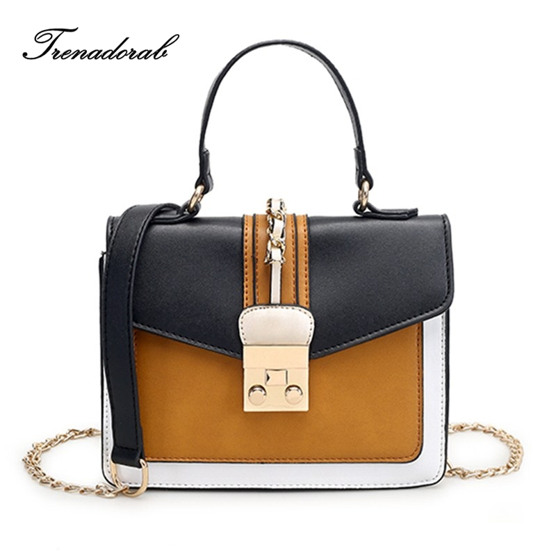 New Arrive Women Shoulder Bag PU Leather women handbag Vintage Messenger Bag Hit Color Patchwork Crossbody Bags Women Bag стоимость