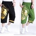 Плюс удобрения брюки Мужская Одежда Хип-Хоп Брюки Мужские Случайные Шаровары Брюки теленка Брюки dj ds dancer костюмы